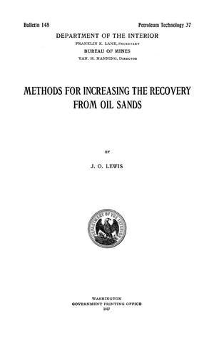 Primary view of object titled 'Methods for Increasing the Recovery from Oil Sands'.