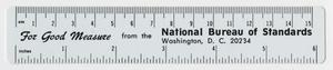 Primary view of object titled '[United States National Bureau of Standards Ruler]'.
