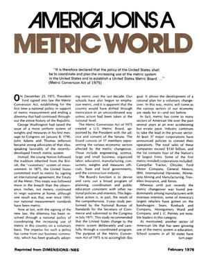 Primary view of object titled 'America Joins a Metric World'.