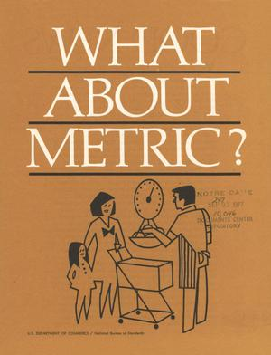 Primary view of object titled 'What About Metric?'.