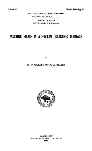 Primary view of object titled 'Melting Brass in a Rocking Electric Furnace'.