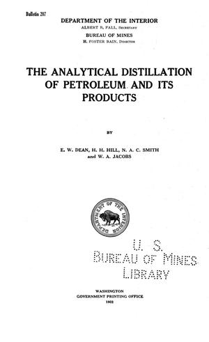 Primary view of The Analytical Distillation of Petroleum and its Products