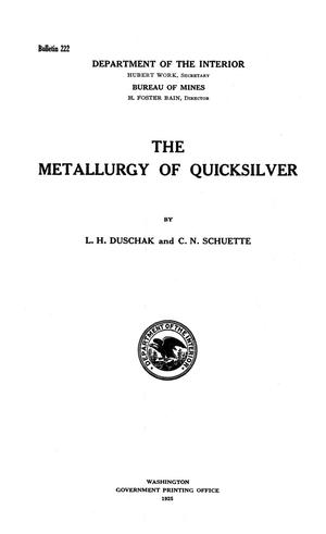 Primary view of object titled 'The Metallurgy of Quicksilver'.