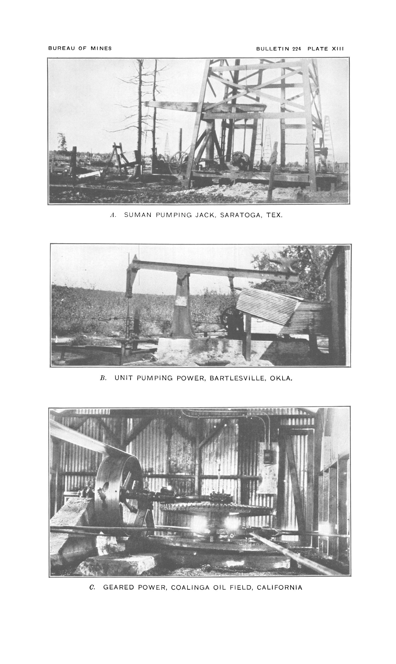 Surface Machinery and Methods for Oil-Well Pumping                                                                                                      62B