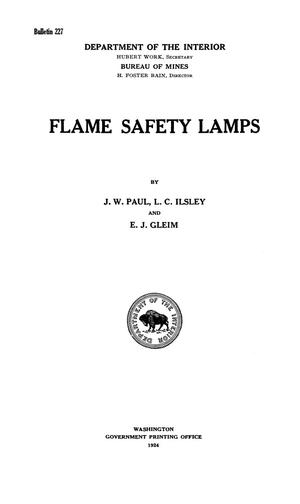 Primary view of object titled 'Flame Safety Lamps'.