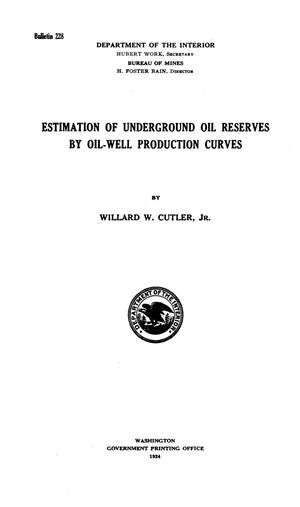 Primary view of object titled 'Estimation of Underground Oil Reserves by Oil-Well Production Curves'.
