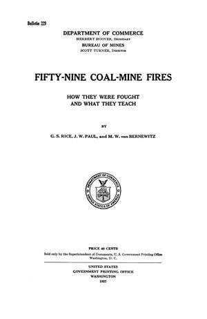 Primary view of object titled 'Fifty-Nine Coal-Mine Fires: How They Were Fought and What They Teach'.