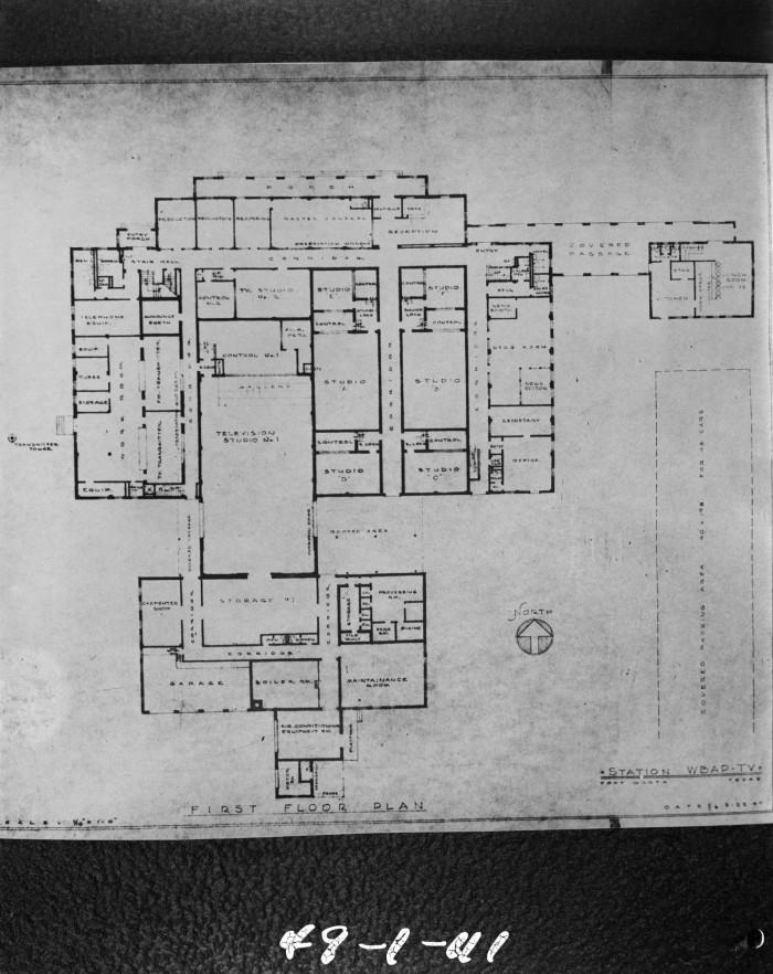 Floor plans for WBAP TV building - 1st