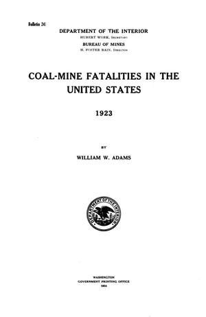 Primary view of object titled 'Coal-Mine Fatalities in the United States, 1923'.