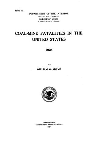 Primary view of object titled 'Coal-Mine Fatalities in the United States, 1924'.