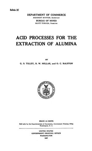 Primary view of object titled 'Acid Processes for the Extraction of Alumina'.