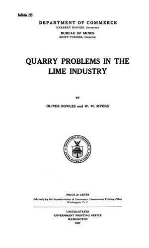 Primary view of object titled 'Quarry Problems in the Lime Industry'.