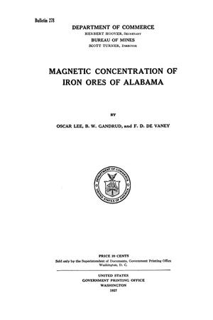 Primary view of object titled 'Magnetic Concentration of Iron Ores of Alabama'.
