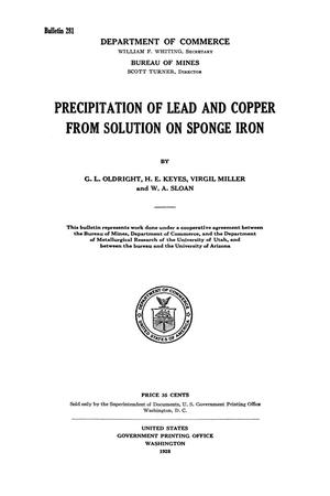 Primary view of object titled 'Precipitation of Lead and Copper from Solution on Sponge Iron'.
