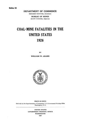 Primary view of object titled 'Coal-Mine Fatalities in the United States, 1926'.