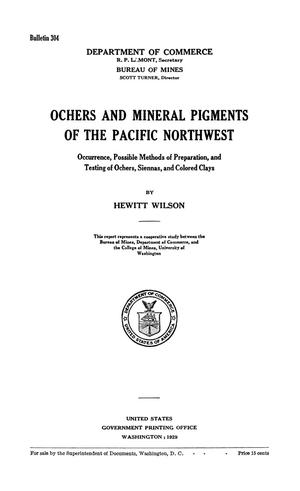 Primary view of object titled 'Ochers and Mineral Pigments of the Pacific Northwest : Occurrence, Possible Methods of Preparation, and Testing of Ochers, Siennas, and Colored Clays'.