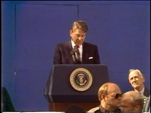 Primary view of [News Clip: Reagan]