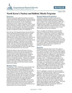 Primary view of object titled 'North Korea's Nuclear and Ballistic Missile Programs'.