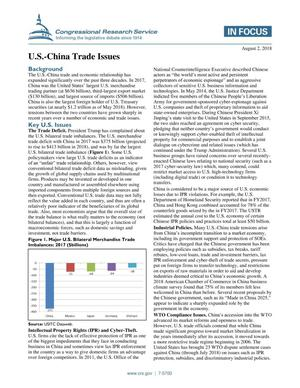 Primary view of object titled 'U.S.-China Trade Issues'.