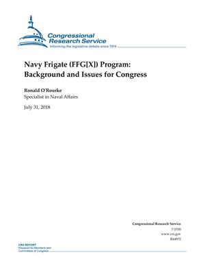Primary view of object titled 'Navy Frigate (FFG[X]) Program: Background and Issues for Congress'.