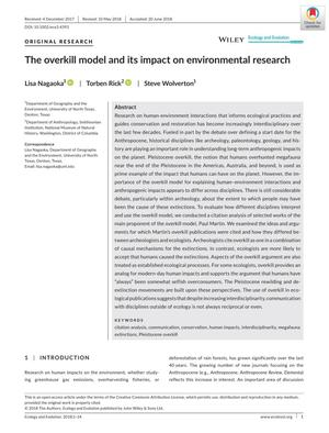 The overkill model and its impact on environmental research