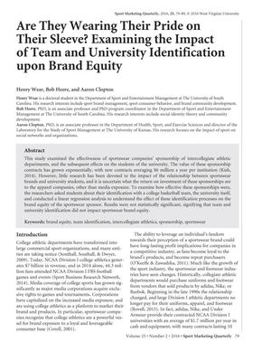 Are They Wearing Their Pride on Their Sleeve? Examining the Impact of Team and University Identification upon Brand Equity
