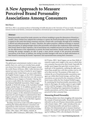 A New Approach to Measure Perceived Brand Personality Associations Among Consumers