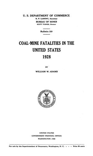 Coal-Mine Fatalities in the United States, 1928