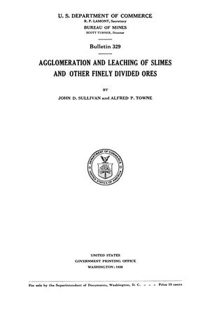 Primary view of object titled 'Agglomeration and Leaching of Slimes and Other Finely Divided Ores'.