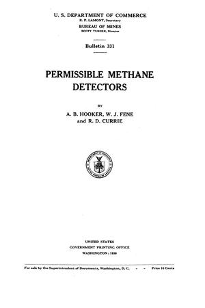 Primary view of object titled 'Permissible Methane Detectors'.
