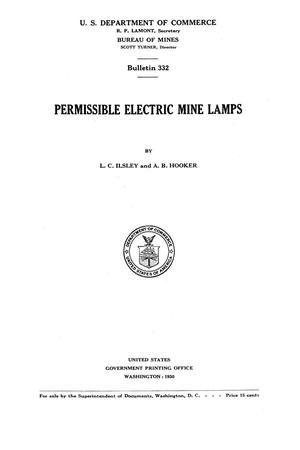 Primary view of object titled 'Permissible Electric Mine Lamps'.