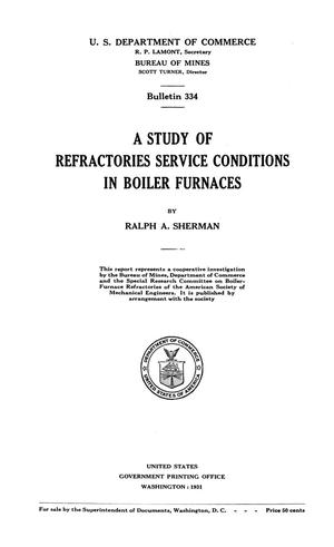 Primary view of object titled 'A Study of Refractories Service Conditions in Boiler Furnaces'.