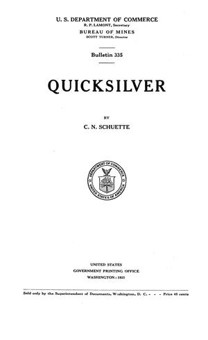Primary view of object titled 'Quicksilver'.