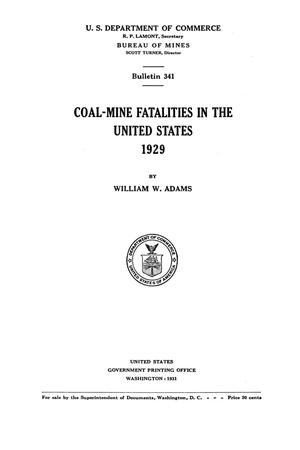 Primary view of object titled 'Coal-Mine Fatalities in the United States, 1929'.