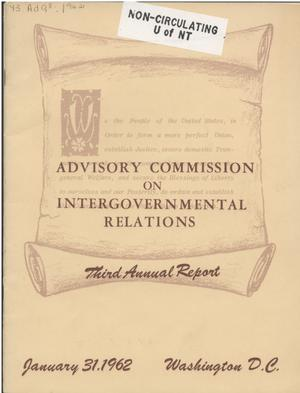 Primary view of object titled '3rd Annual Report'.