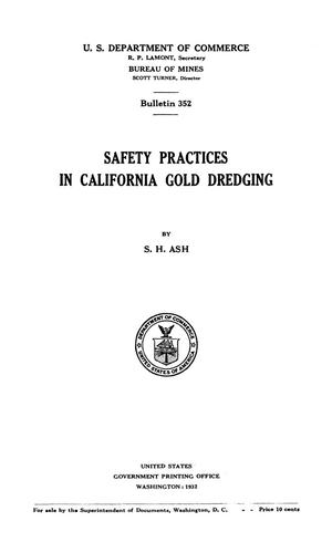 Primary view of object titled 'Safety Practices in California Gold Dredging'.