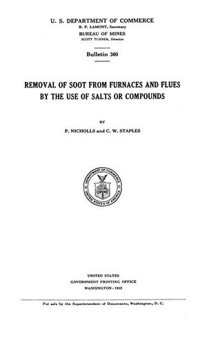 Primary view of object titled 'Removal of Soot from Furnaces and Flues by the Use of Salts or Compounds'.