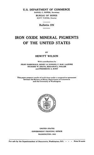 Primary view of object titled 'Iron Oxide Mineral Pigments of the United States'.