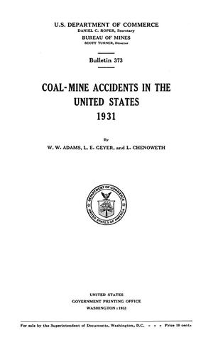 Primary view of object titled 'Coal-Mine Accidents in the United States: 1931'.