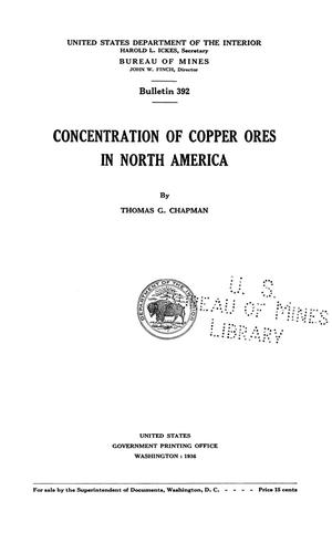 Primary view of object titled 'Concentration of Copper Ores in North America'.