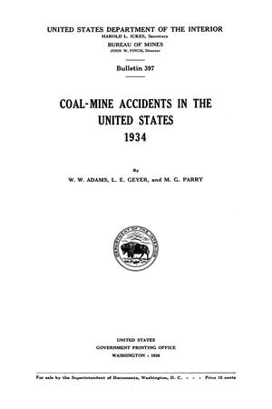Primary view of Coal-Mine Accidents in the United States, 1934