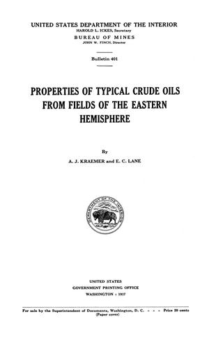 Primary view of object titled 'Properties of Typical Crude Oils From Fields of the Eastern Hemisphere'.