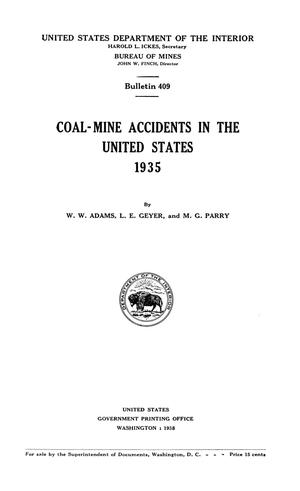 Primary view of object titled 'Coal-Mine Accidents in the United States, 1935'.