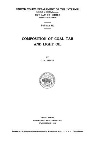 Primary view of object titled 'Composition of Coal Tar and Light Oil'.