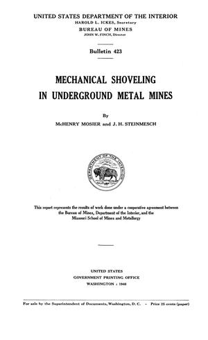 Primary view of object titled 'Mechanical Shoveling in Underground Metal Mines'.
