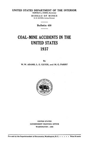 Primary view of object titled 'Coal-Mine Accidents in the United States, 1937'.