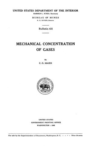Primary view of object titled 'Mechanical Concentration of Gases'.