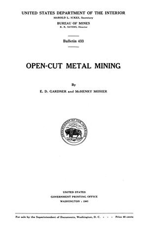 Primary view of object titled 'Open-Cut Metal Mining'.