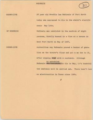 Primary view of object titled '[News Script:McKenzie ]'.