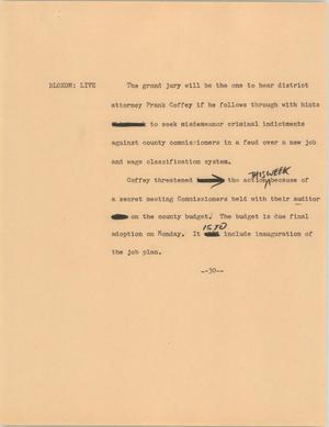 Primary view of [News Script: ] UNTA_AR0787-031-1970-01-09-1800-09